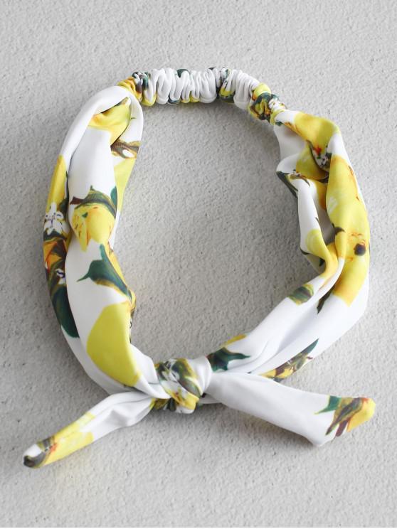 ZAFUL Lemon Print atado com elástico Headband - Multi-A Um Tamanho