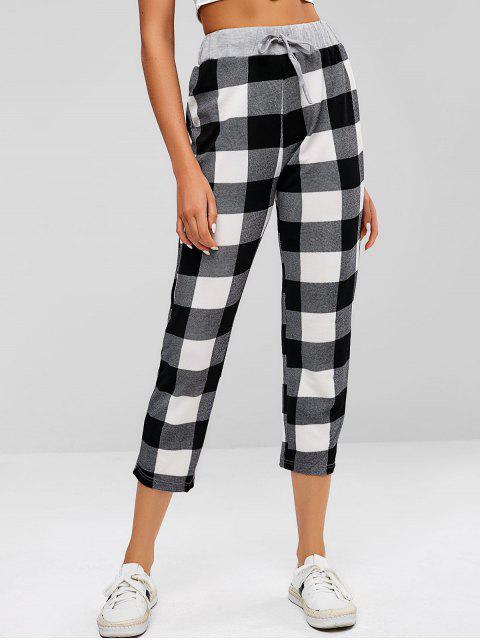 ZAFUL pantalones de cintura con cordón a cuadros - Multicolor M Mobile