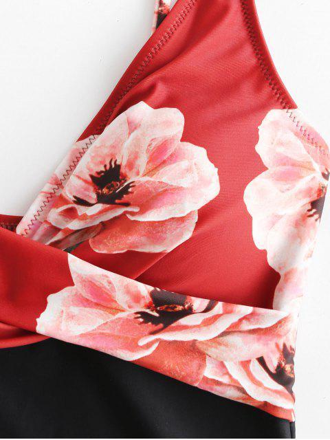 Bañador de camuflaje con estampado floral de ZAFUL - Multicolor-A S Mobile