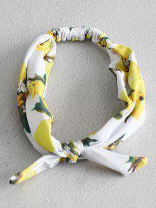 ZAFUL الليمون طباعة معقود بسط عقال - متعددة-a