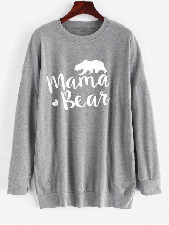 Карманный топ Mama Bear с рисунком в виде сердца - Темно-серый S