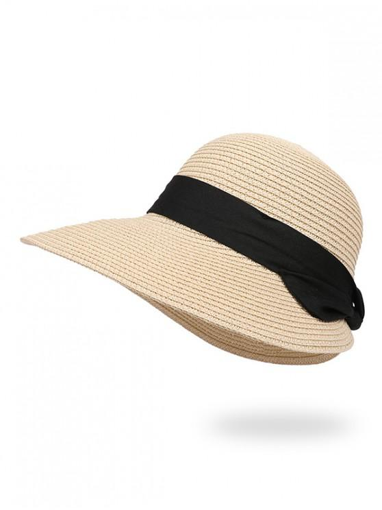 outfit Knot Beach Straw Hat - COFFEE