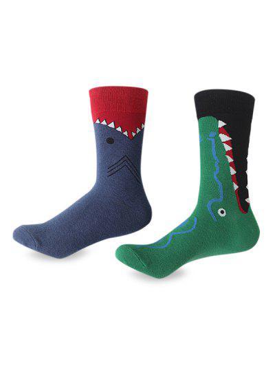 Imagem de 2Pcs Crocodile Pattern Cotton Socks
