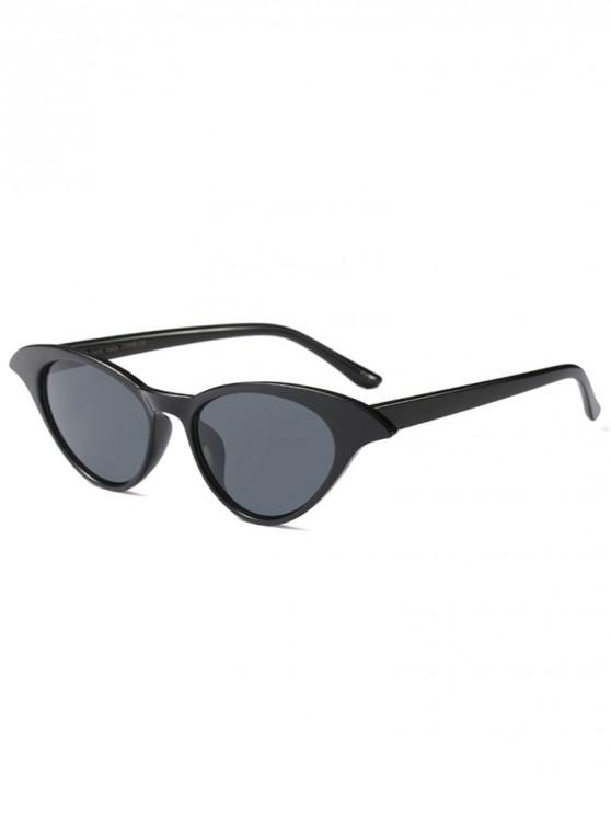 shops Unique Cat Eye Design Sunglasses - BLACK