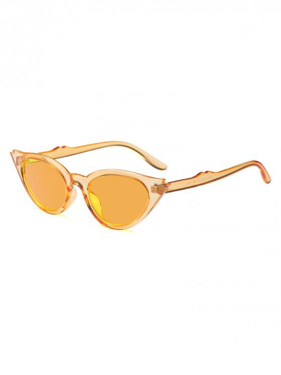 buy Innovative Cat Eye Shape Sunglasses - BRIGHT YELLOW