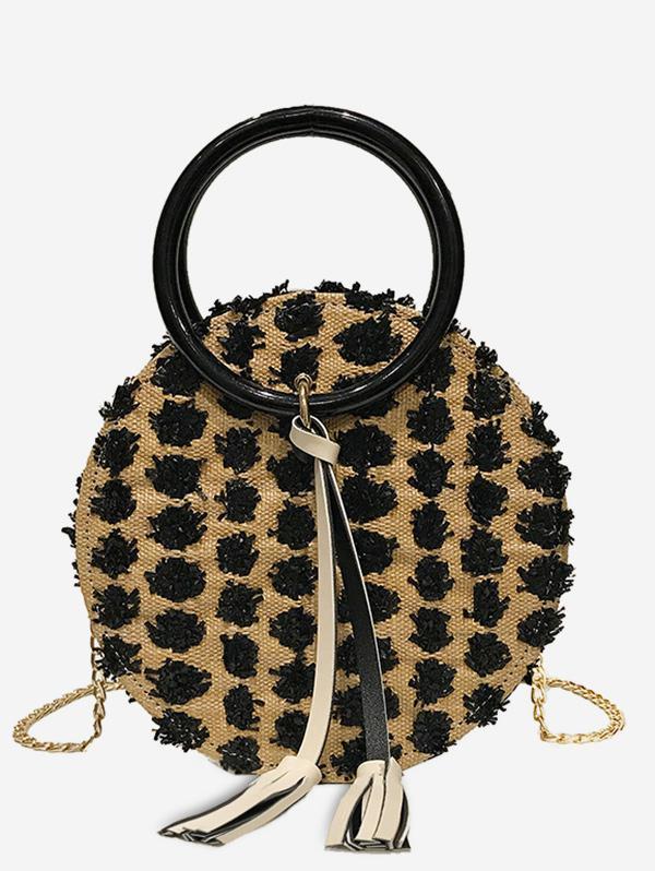 2Pcs Tassel Chain Straw Canteen Bag Set