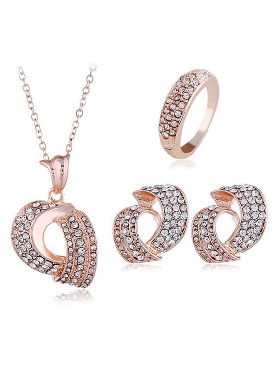lady Rhinestone Jewelry Set - ROSE GOLD