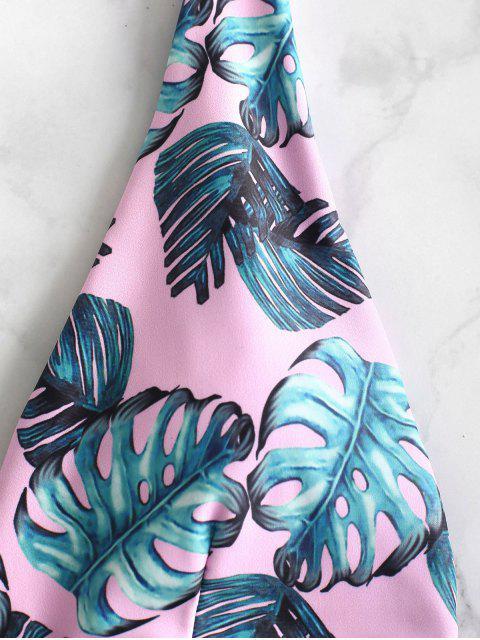 ZAFUL Palm Backless con cinturón traje de baño - Rosa Claro M Mobile