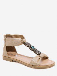 الأحذية الرومانية التفاف الكاحل   - مشمش الاتحاد الأوروبي 36