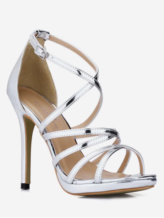 fb1b431a8e8 12% OFF  2019 Buckle Strap Decoration Stiletto Heel Sandals In ...