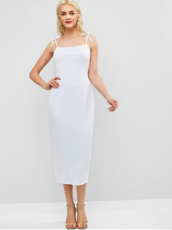 outfits Back Slit Cami Pencil Dress - WHITE S