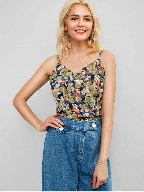 shops Floral Print Tank Top - MULTI ONE SIZE Mobile