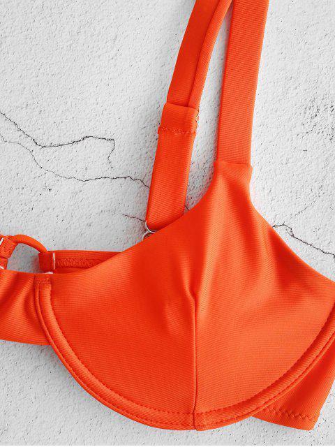 Bikini Annodato con Ferretto di ZAFUL - Arancione Scuro M Mobile