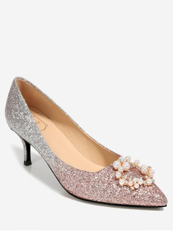 f9a6c4d2b8d7 37% OFF] 2019 Pointed Rhinestone Decorated Thin Pumps In LIGHT PINK ...