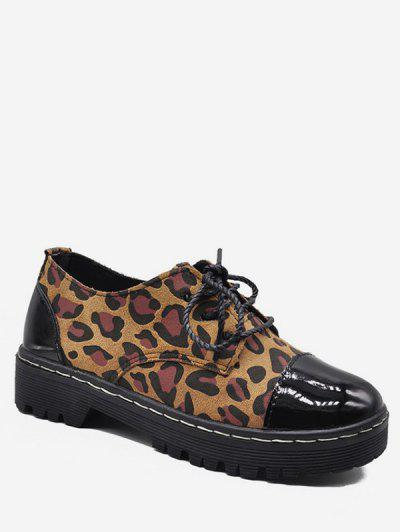 Flat Heel Leopard Pattern Jointed Shoes