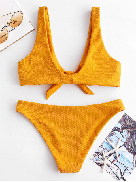 BikiniTesturizzatoeAnnodato di ZAFUL - Oro d'arancio M Mobile