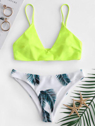 Bikini con estampado de hojas ZAFUL