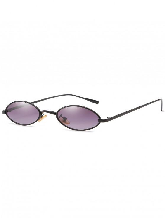 online Retro Metal Oval Frame Sunglasses - CLOUDY GRAY