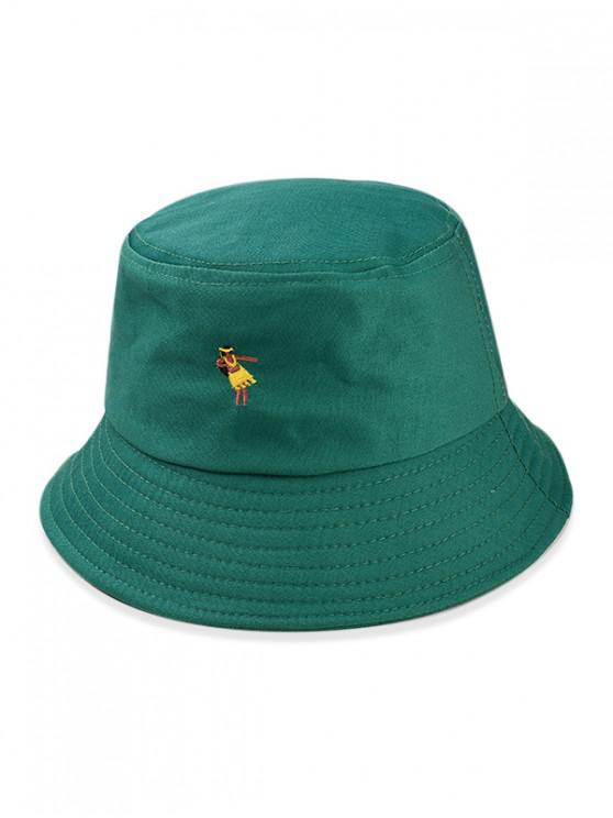 4fe89a32 31% OFF] 2019 Cartoon Embroidered Bucket Hat In GREEN | ZAFUL