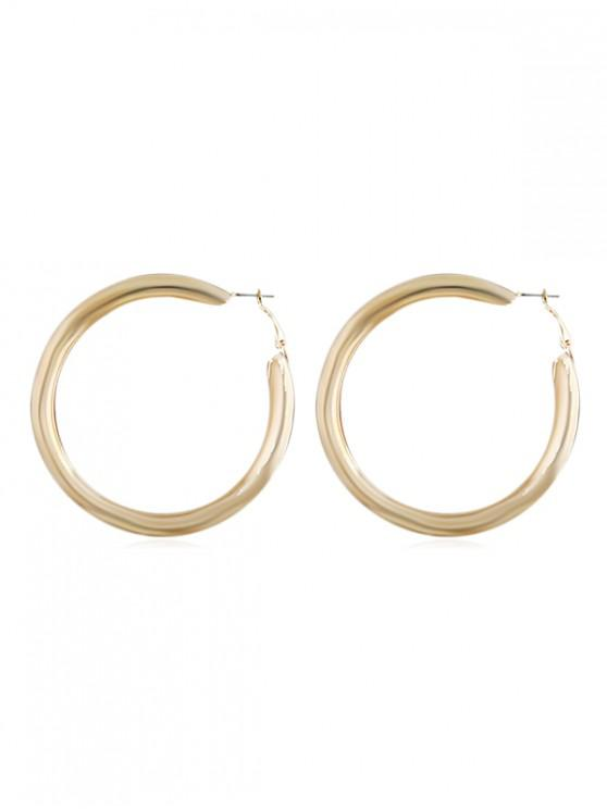 new Large Alloy Hoop Earrings - GOLD