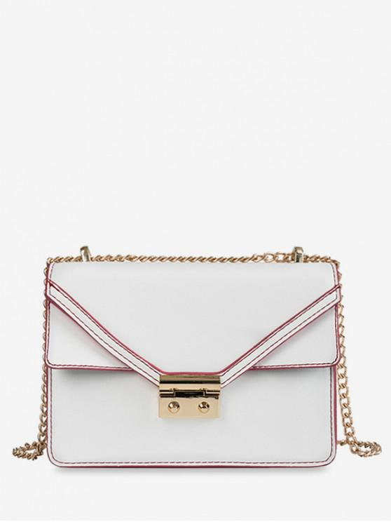 new Cover Chain PU Crossbody Bag - WHITE