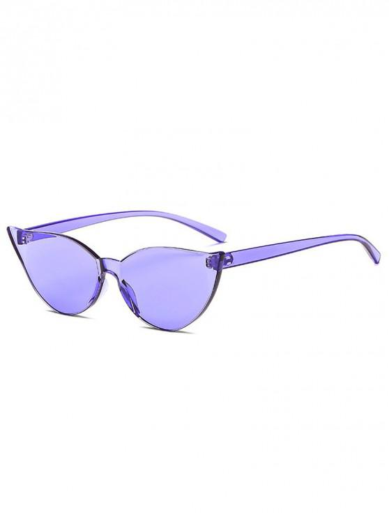 fashion Candy Color Catty Eyes Sunglasses - PURPLE