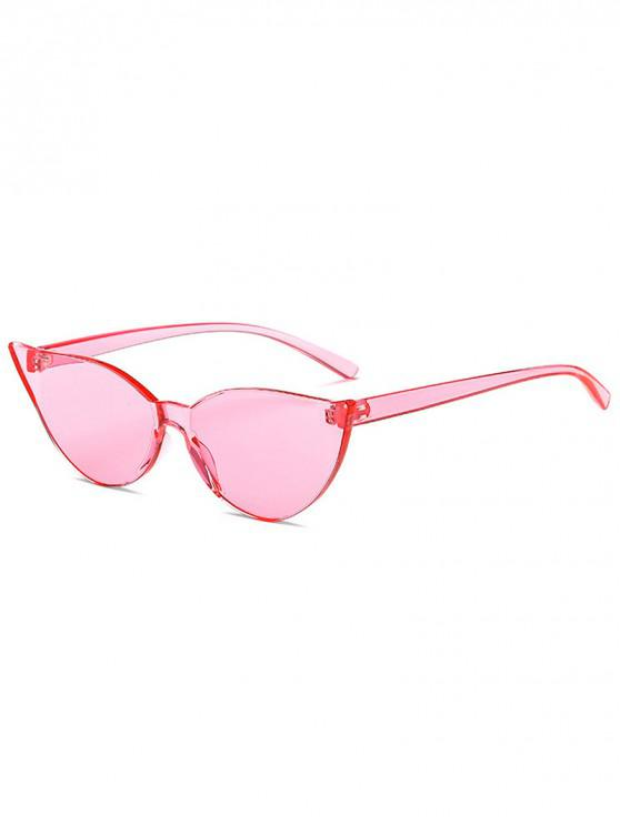 fancy Candy Color Catty Eyes Sunglasses - PINK