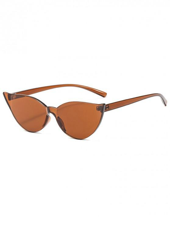 buy Candy Color Catty Eyes Sunglasses - BROWN