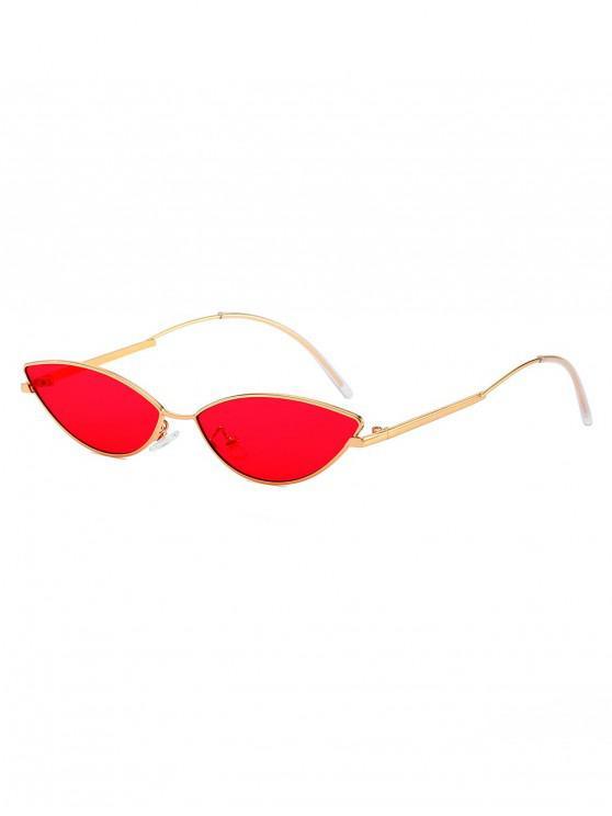 women Catty Eye Anti UV Sunglasses - RUBY RED