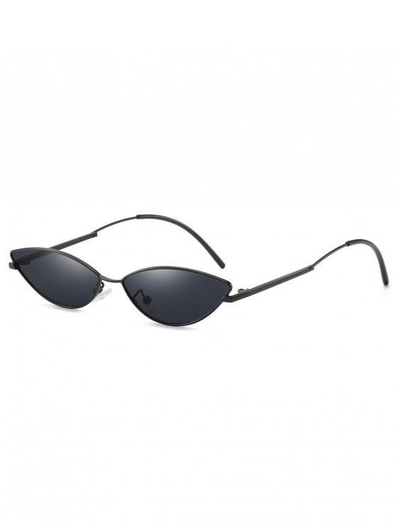 lady Catty Eye Anti UV Sunglasses - BLACK