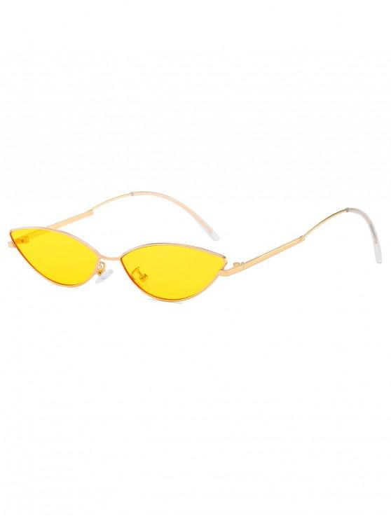 latest Catty Eye Anti UV Sunglasses - YELLOW
