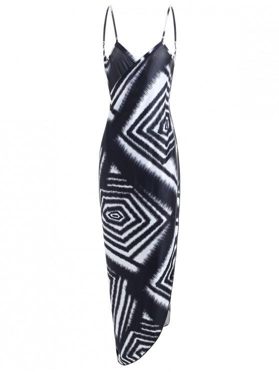 Vestido com estampa geométrica - Preto Um Tamanho