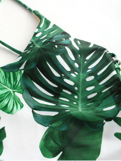 Bañador de una pieza tropical con cordones ZAFUL - Multicolor-A S Mobile