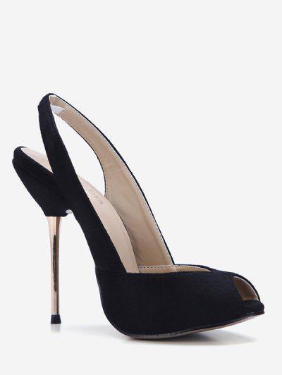 6757b967636 Sling Back Peep-toe Dress Pumps - Black Eu 37 ...