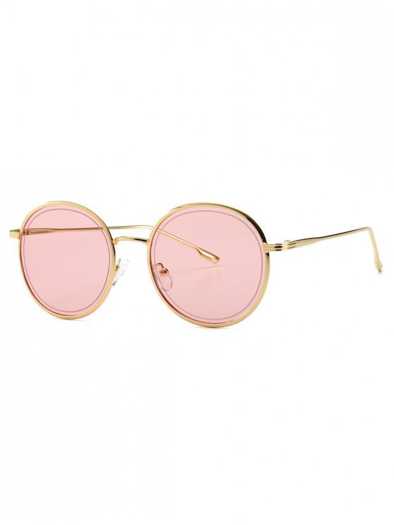 womens Ins Style Metal Frame Sunglasses - PINK