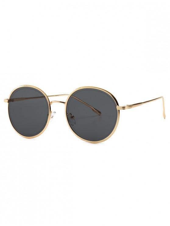 Ins -Stil-Sonnenbrille mit Metallrahmen - Schwarz