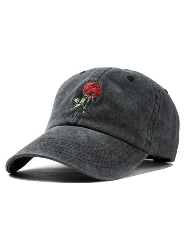Zaful coupon: Embroidered Rose Baseball Cap