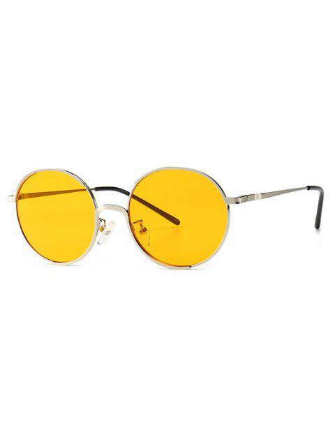 Круглые Солнцезащитные Очки Анти-UV - Жёлтый  Mobile