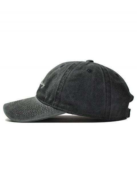 Gorra de béisbol bordada ajustable - Negro  Mobile