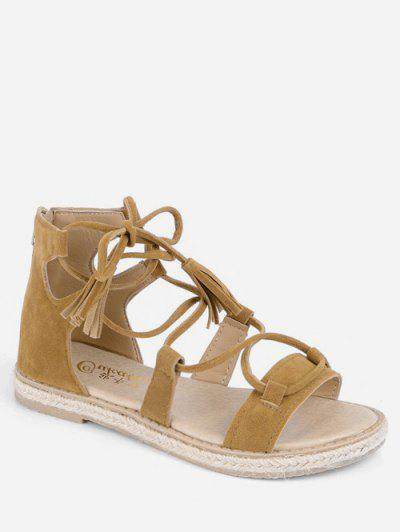 1c0eb5ee95f9e Lace-up Design Gladiator Sandals - Bee Yellow Eu 39 ...