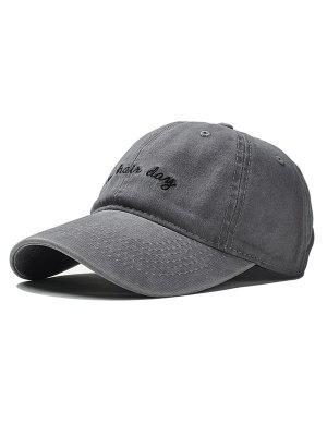 a97a60ee3f5 Adjustable Embroidery Baseball Cap - Gray