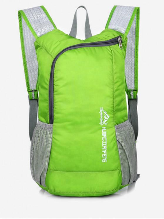 sale Outdoor Neon Letter Print Sport Backpack - YELLOW GREEN