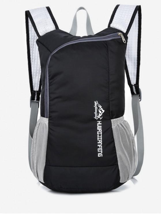 affordable Outdoor Neon Letter Print Sport Backpack - BLACK