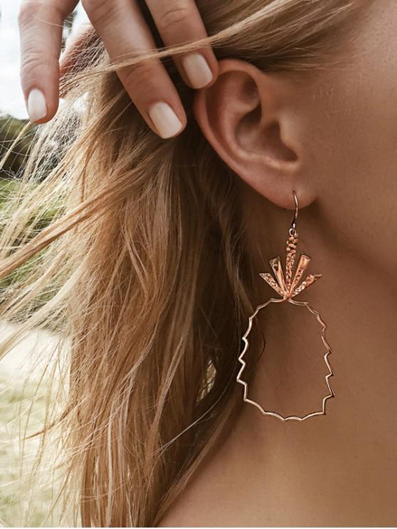 buy Alloy Pineapple Shape Openwork Earrings - ROSE GOLD