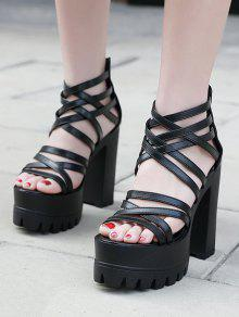 2017e046be5 Strappy Platform Chunky Heel Sandals  Strappy Platform Chunky Heel Sandals  ...
