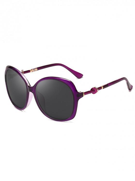 hot Rhinestone Decorated Butterfly Frame Sunglasses - VIOLA PURPLE