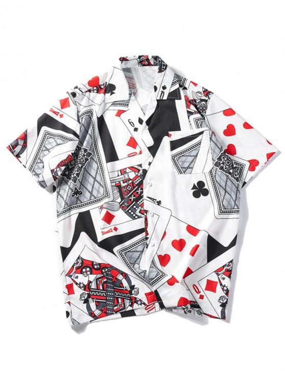 buy Playing Card Print Casual Shirt - MULTI XL