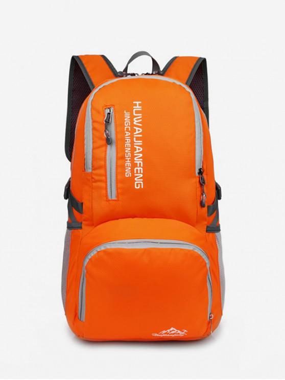 women's Graphic Pattern Waterproof Replicate Sport Bag - ORANGE