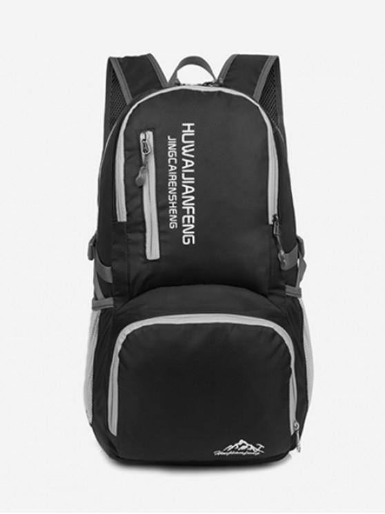 lady Graphic Pattern Waterproof Replicate Sport Bag - BLACK