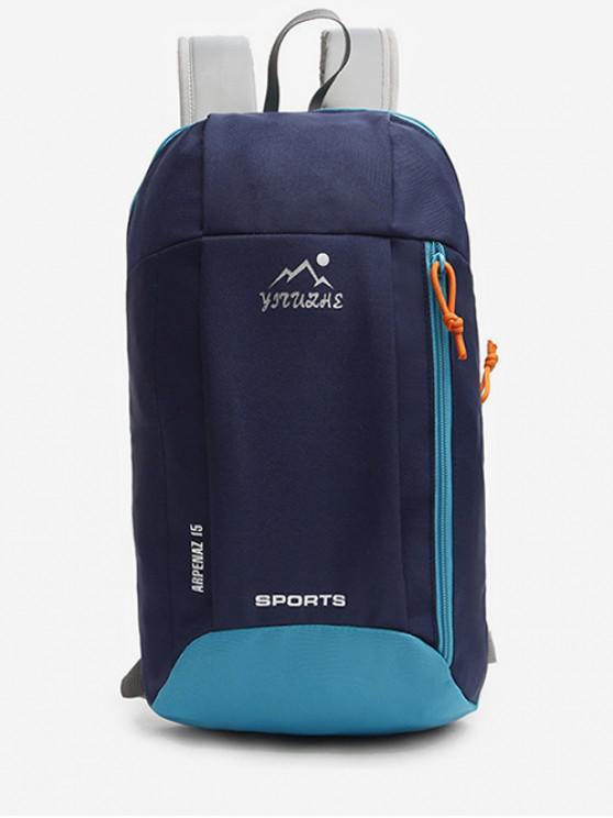 new Canvas Zipper Travel Sport Bag - DARK SLATE BLUE